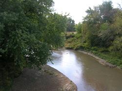 Nishnabotna River from trail bridge