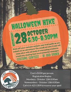 Lime Creek Nature Center Halloween Hike