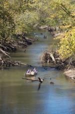 Canoeing on Big Cedar Creek near Turkey Run