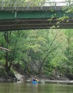 Kayaking on Cedar Creek
