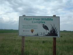 Entrance Sign to the Floyd River Wildlife Complex A