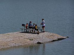 Jetties provide easy access to lake