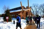 Snow & winter activities in county park lodges & shelters