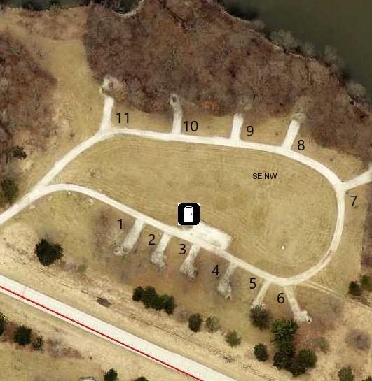 Hickory Grove Primitive Campground Site 3 -No Image