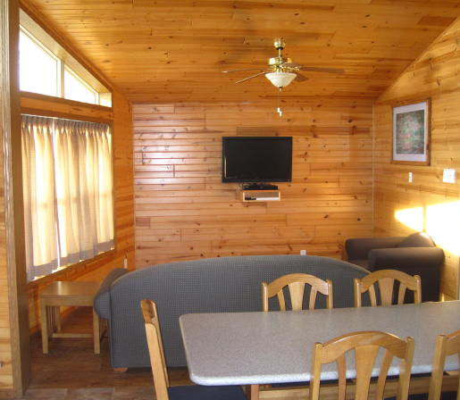 Hawk Cabin Living Area