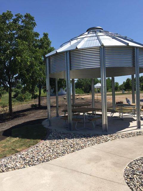 Dog Creek Grain Bins Corn Dog Creek Park O Brien