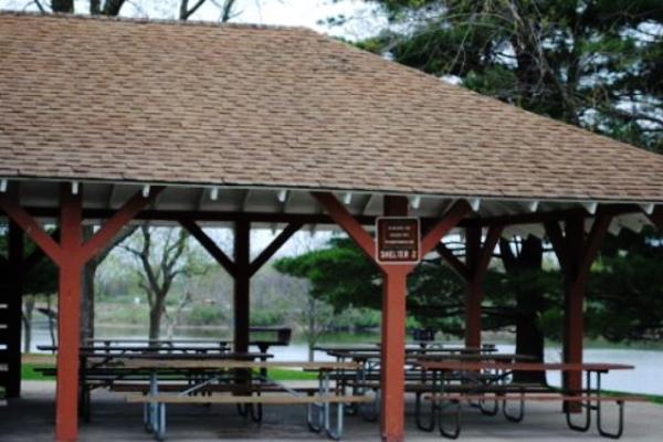 Easter Lake Shelter 2-lake improvements underway -No Image
