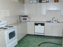 kitchen attached to community room
