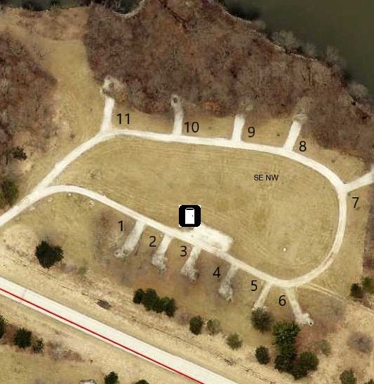 Hickory Grove Primitive Campground Site 4 -No Image