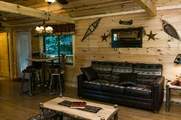 Oak Cabin Living and Dining Room